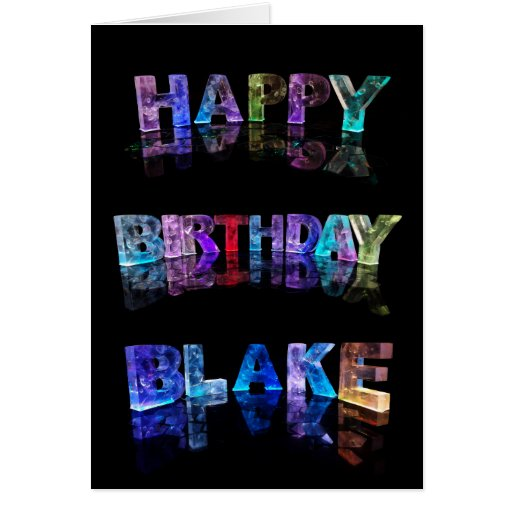 Happy Birthday Blake Card