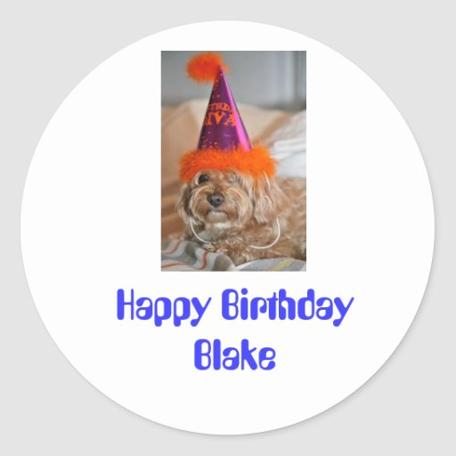 Happy Birthday Blake Sticker