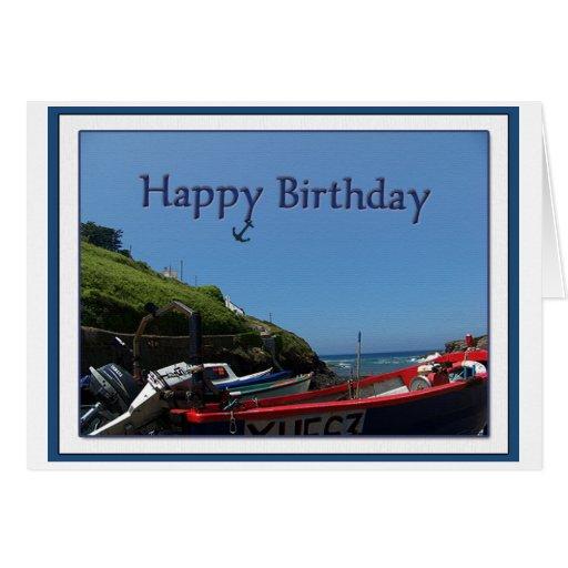 Happy Birthday Boating Greeting Card
