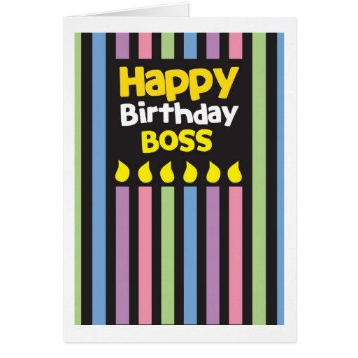 Happy Birthday BOSS! Card
