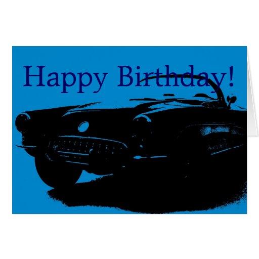 Happy Birthday Car Greeting Card