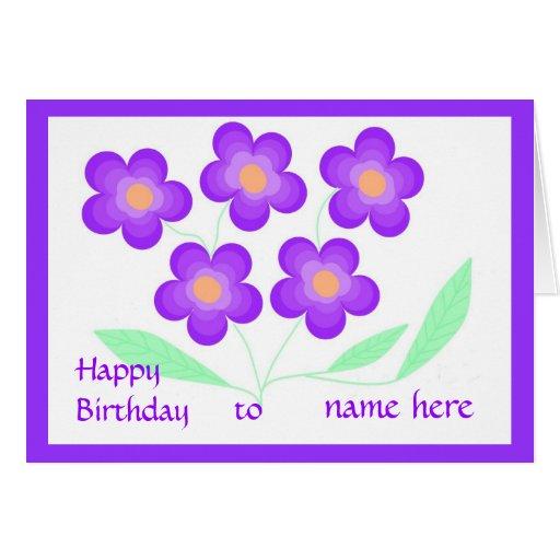 Happy Birthday Card Add Name.