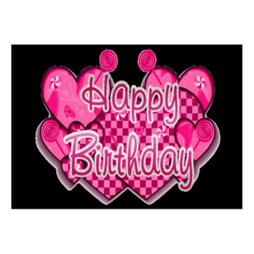 Happy Birthday Card Business Card Template