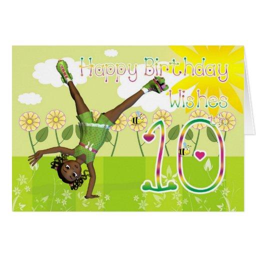 Happy 10th Birthday Cards, Happy 10th Birthday Card