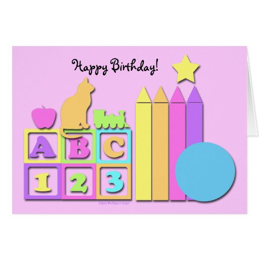 Happy Birthday Childcare Provider Card