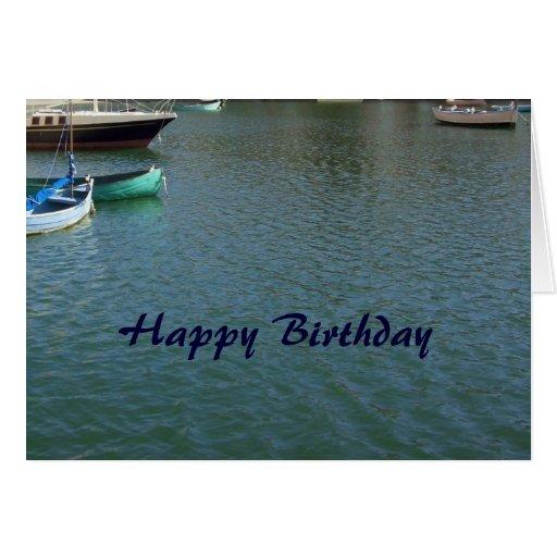 Happy Birthday Christian Card - Boats