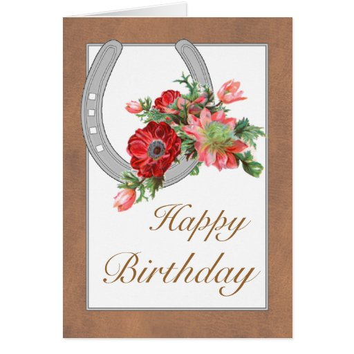 Happy Birthday Cowgirl Customizable Greeting Card