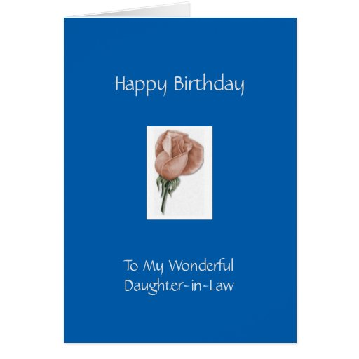 Happy Birthday Daughter-in-Law - Rose Greeting Card