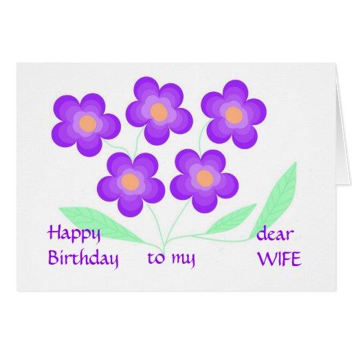 Happy Birthday Dear Wife Cards