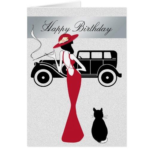 Happy Birthday Diva Card Elegant Woman