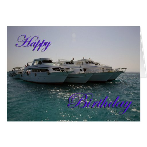 Happy Birthday Dive Boats Greeting Card