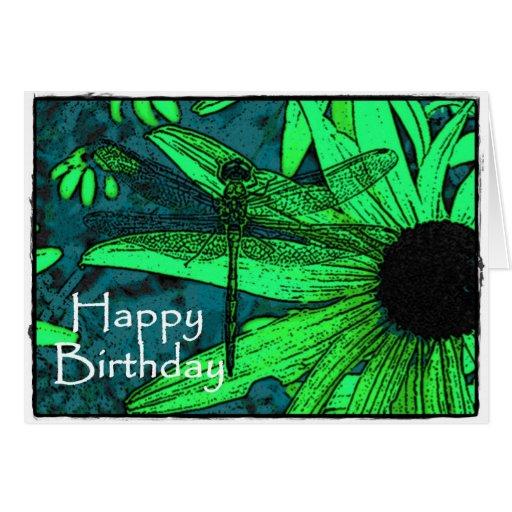 Happy Birthday Dragonfly Greeting Card