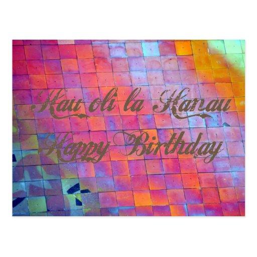 Happy Birthday From Hawaii Greeting Postcard