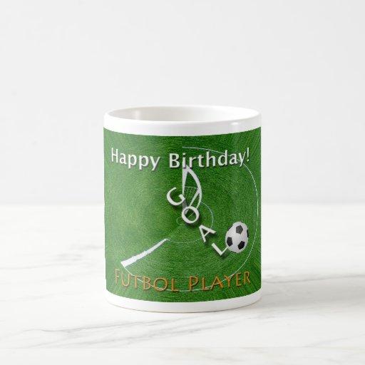 Happy Birthday Futbol Soccer Player Coffee Mug