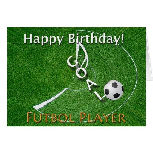 Happy Birthday Futbol Soccer Player Greeting Card