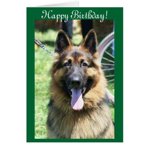Happy Birthday German Shepherd greeting card | Zazzle