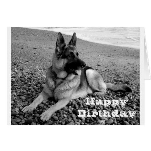 Happy Birthday German Shepherd Puppy Dog Card | Zazzle