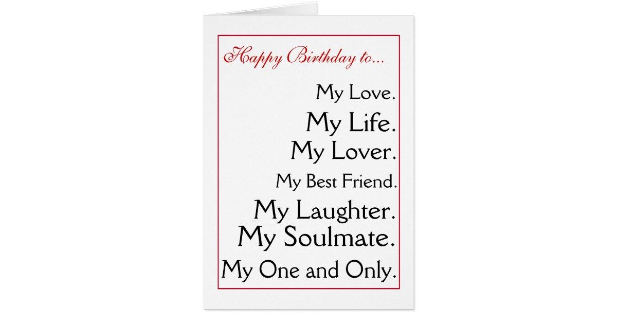 Birthday Card For My Ex Girlfriend Happy Boyfriend Wife Husband Zazzle
