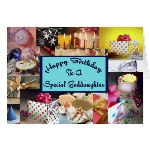 Happy Birthday Goddaughter Greeting Cards