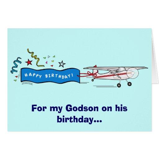 Happy Birthday Godson Airplane Cards