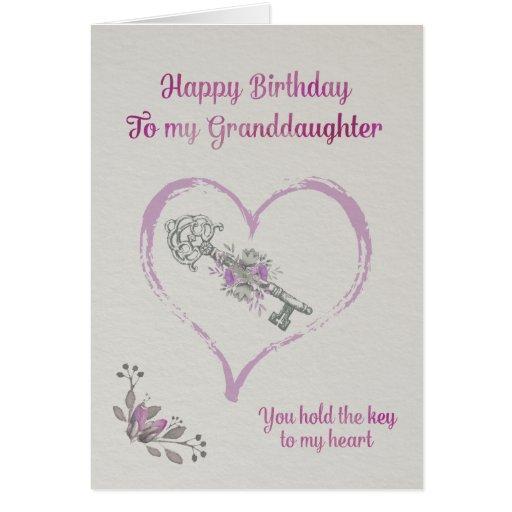 Happy Birthday Granddaughter Greeting Card
