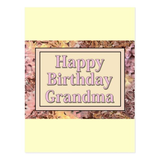 happy birthday grandma post cards