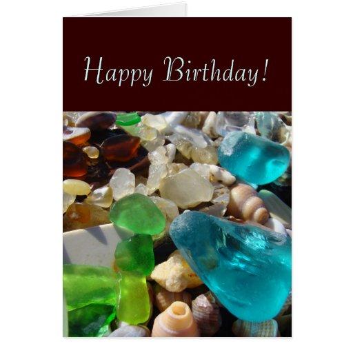 Happy Birthday! Greeting Cards Beach Treasures