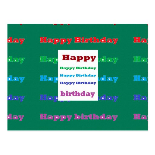 Happy Birthday Greeting Script Text Green Base Fun