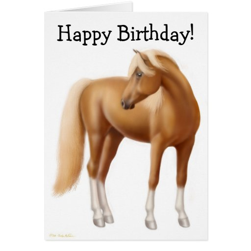 happy birthday horse card  zazzle