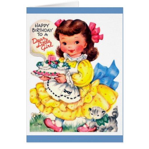 Happy birthday little girl! greeting card | Zazzle
