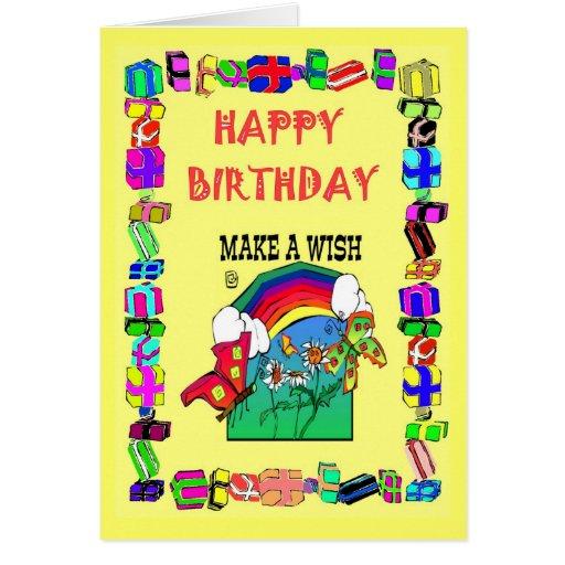 Happy Birthday Make A Wish Greeting Card