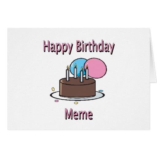 Happy Birthday Meme French Birthday Design Card