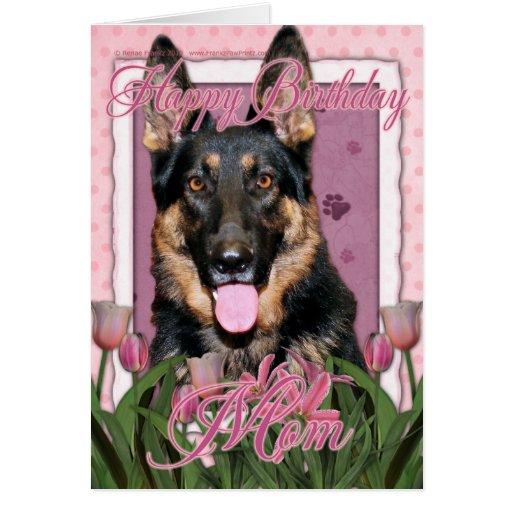 Happy Birthday Mom - German Shepherd - Kuno Card | Zazzle