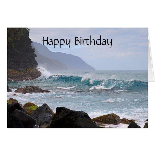 Happy Birthday, Na Pali Coast On Kauai Card