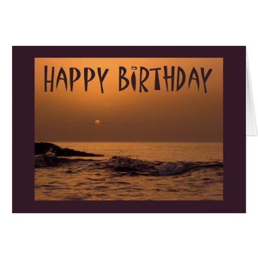Happy Birthday - Ocean Sunrise Greeting Card