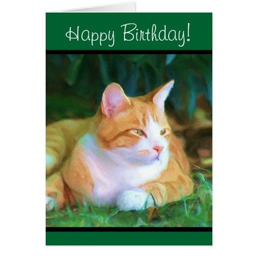 Birthday Orange Cat