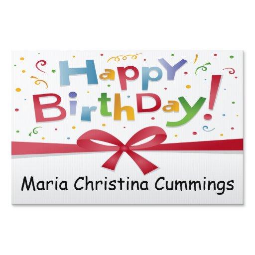 Happy Birthday Personalized Yard Sign