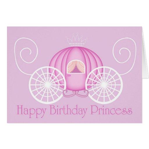 Happy Birthday Princess Card Blank Card