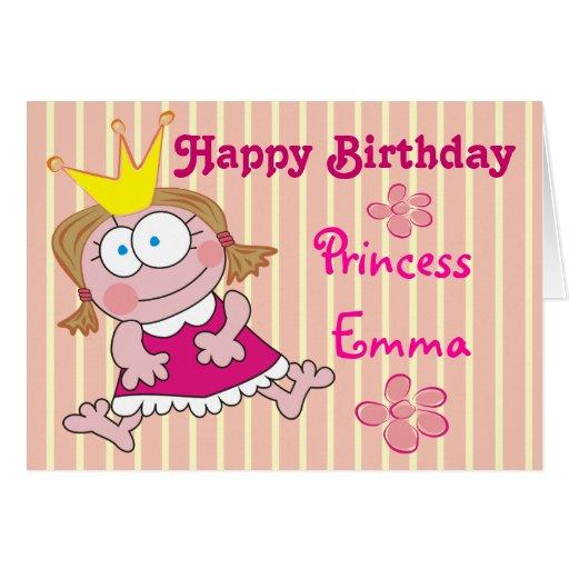 Happy Birthday Princess Emma! Cute Greeting Cards