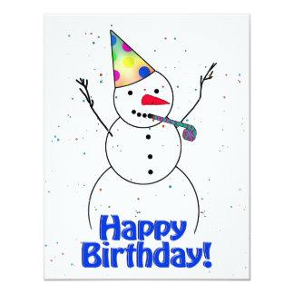 Happy Birthday Snowman Gifts on Zazzle