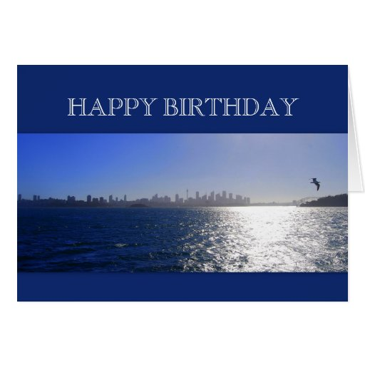 Happy Birthday, Sydney, Australia, Harbor Greeting Cards