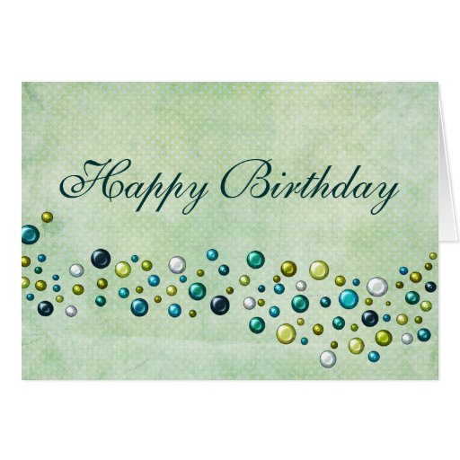 Happy Birthday Teal And Green Stationery Note Card