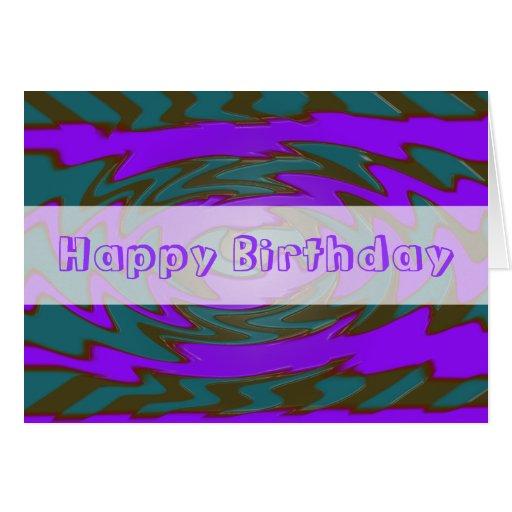 Happy Birthday Teal Purple Card
