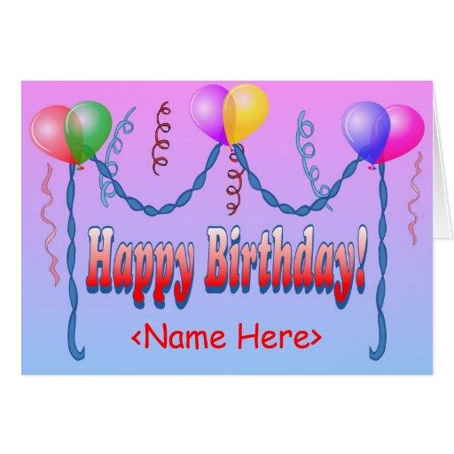 Birthday Card Template: Happy Birthday Template Card