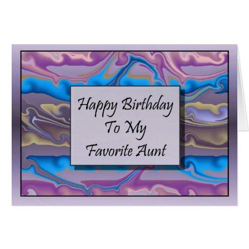 happy birthday to my favorite aunt card  zazzle