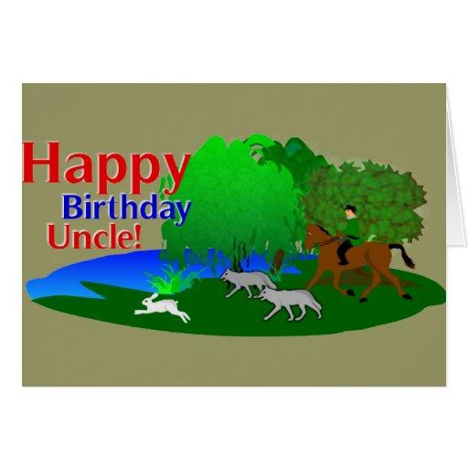 Happy Birthday Uncle Hunter Greetings Card