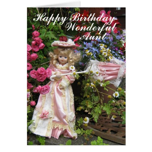 Happy Birthday Wonderful Aunt Greeting Card