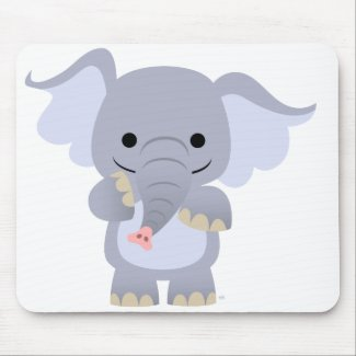 Happy Cartoon Elephant Mousepad mousepad