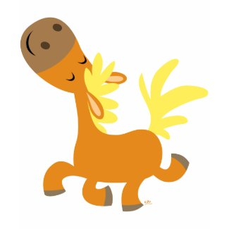Happy Cartoon Pony children T-shirt shirt