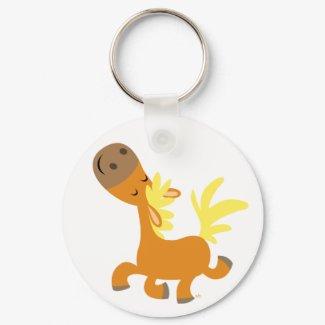 Happy Cartoon Pony keychain keychain